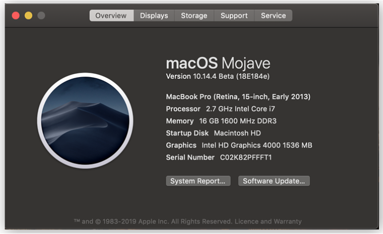 Basic Computer Information for Mac