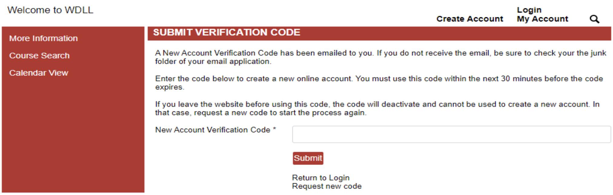 Step Three Enter Verification Code