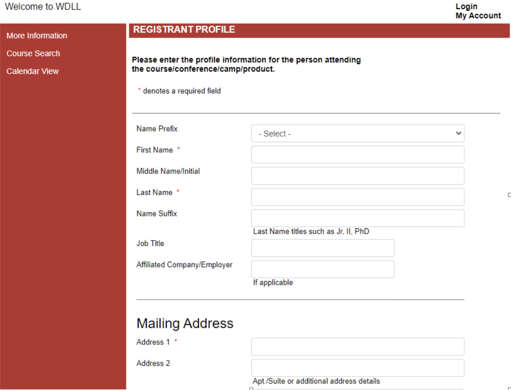 Step Four Complete Registrant Profile