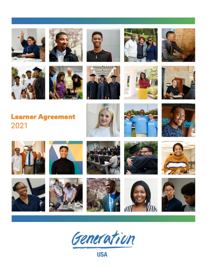Generation Learner Agreement 2021 Cover